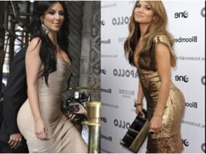 Jennifer López,Kim Kardashian ,Pamela Anderson